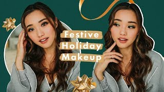 Festive AF Holiday Makeup   GRWM by Clothes Encounters