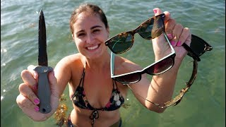 Video Found KNIFE, JUUL, Sunglasses and an Anchor Underwater While Diving Lake Boca! MP3, 3GP, MP4, WEBM, AVI, FLV Juni 2019