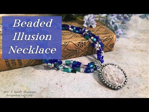 Beaded Illusion Necklace-Seed Bead Jewelry Tutorial