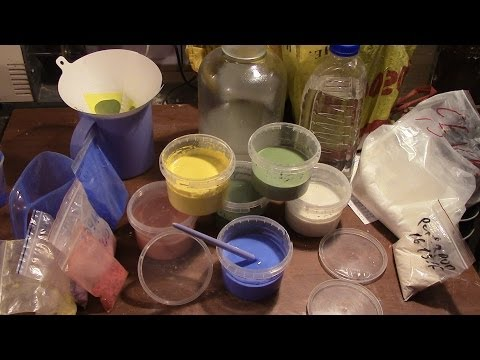 Приготовить краску в домашних условиях