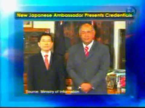 Japanese Ambassador Presents Credentials.wmv