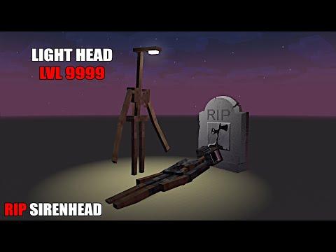 Monster School : LIGHT HEAD VS SIREN HEAD RIP SIREN HEAD - Minecraft Animation