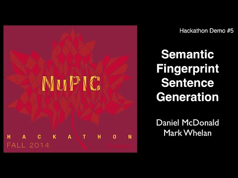 Semantic Fingerprint Sentence Generation