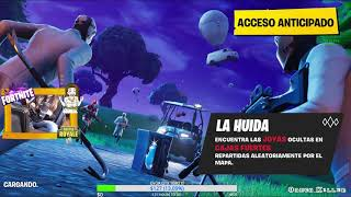 Probando nuevo modo de Fortnite LA HUIDA!!! Aahhhh!!!