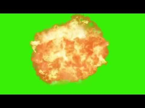 Explosion Croma Key Green Screen, With Explosion Sound Effect!