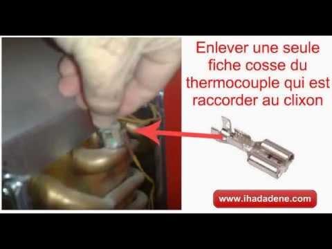 comment reparer thermocouple gaziniere