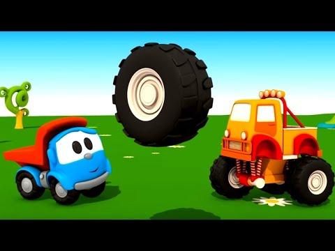Мультики про машинки: ГРУЗОВИЧОК ЛЁВА Все серии подряд. Лёва Малыш. 3D конструктор - Машинки. (видео)