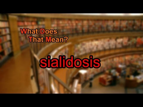 What does sialidosis mean?