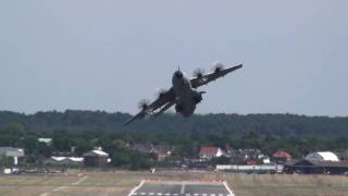 Airbus A400M Head-On Combat Takeoff At Farnborough.