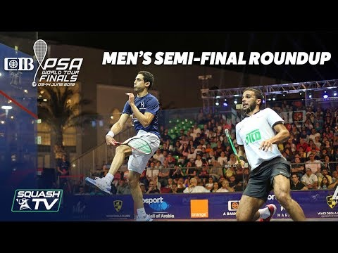 Squash: CIB PSA World Tour Finals 2018/19 - Men's Semi-Final Roundup
