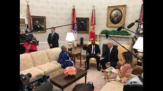 Video President Uhuru Kenyatta received by President Donald Trump at the White House MP3, 3GP, MP4, WEBM, AVI, FLV Maret 2019