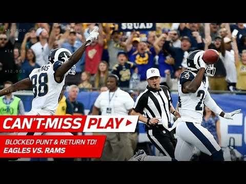 Video: LA Blocks Punt & Gets the TD Return to Take the Lead vs. Philly! | Can't-Miss Play | NFL Wk 14