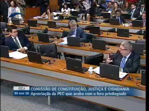 Com apoio e atuação de Anastasia, Comissão do Senado aprova fim do foro privilegiado