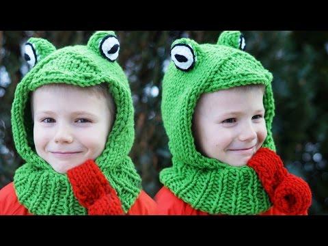 MÜTZE für Kinder stricken TEIL 1 – Kapuzenschal Froschmütze Anfänger einfach