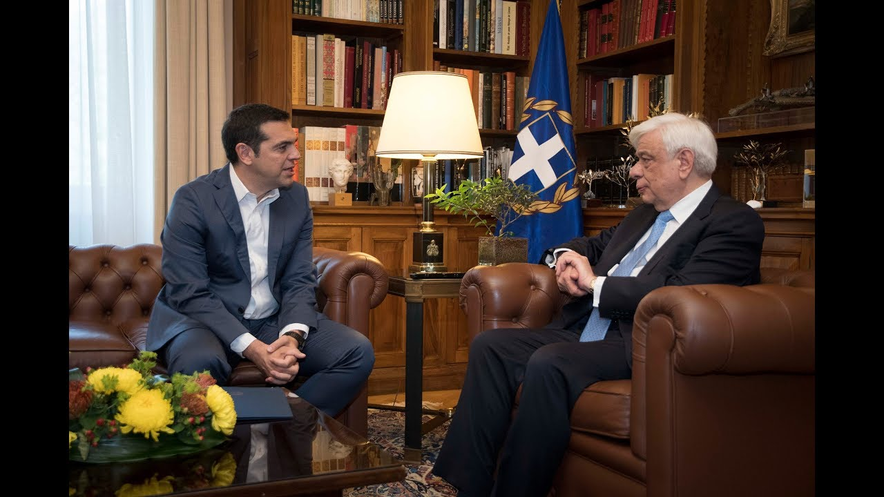 Συνάντηση με τον Πρόεδρο της Δημοκρατίας για τις διαπραγματεύσεις για το ονοματολογικό της ΠΓΔΜ