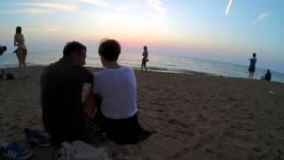 Beach sunrise time lapse - 1080p Full HD