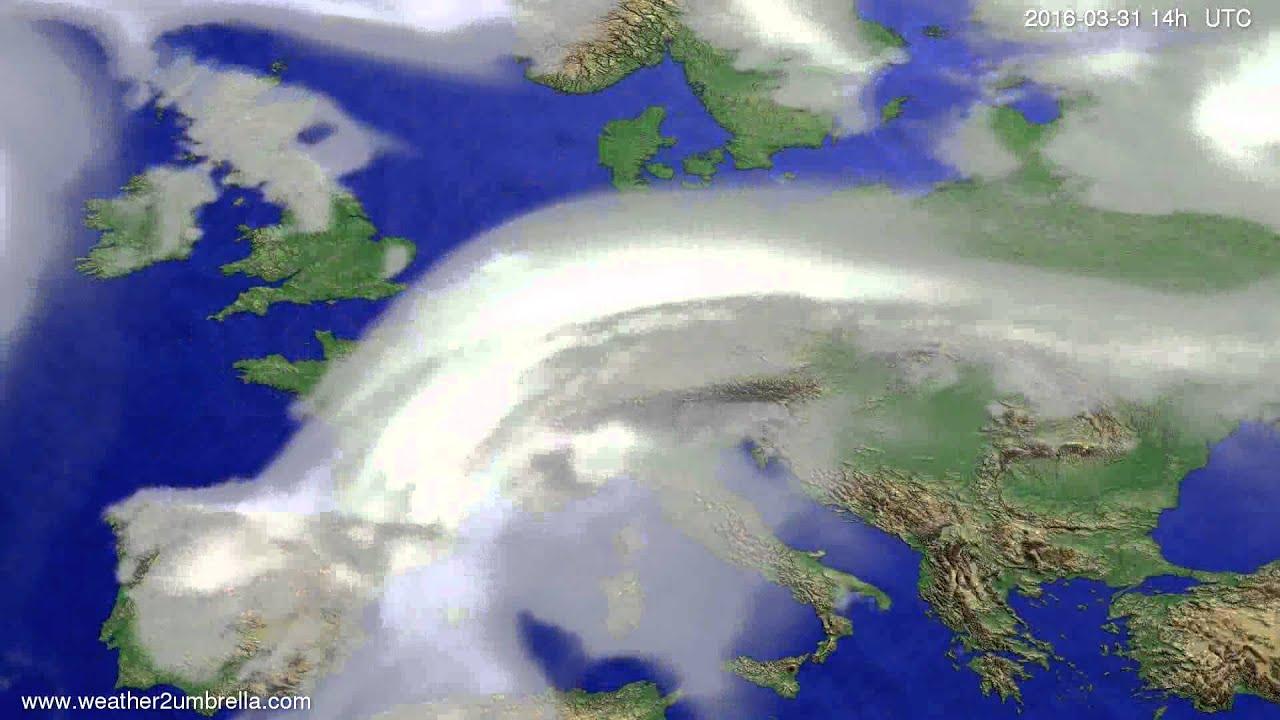 Cloud forecast Europe 2016-03-27