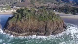 Phantom 4 over Neskowin Oregon next to Lincoln City on Jan 23rd 2017.