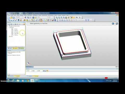 Edgecam Bottom of Box Tutorial (видео)