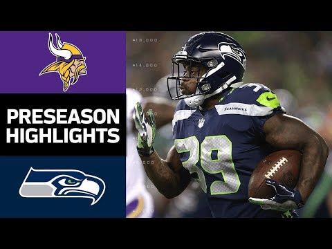 Vikings vs. Seahawks | NFL Preseason Week 2 Game Highlights - Thời lượng: 8:03.