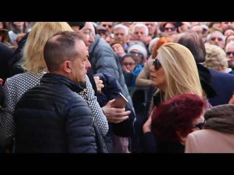 Fabrizo Frizzi Funerale : Mara Venier Antonio Giuliani Eleonora Daniele