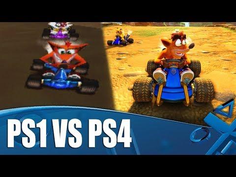 Comparaison des versions PS4 et PS1 de Crash Team Racing : Nitro Fueled