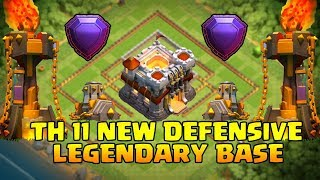 Video TH11 BEST LEGENDARY DEFENSE BASE WITH REPLY 2017 / ANTI 2 STAR BASE | CLASH OF CLANS MP3, 3GP, MP4, WEBM, AVI, FLV Agustus 2017