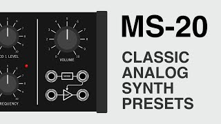 MS-20 is a sample pack of vintage MS-20 samples plus Ableton Live presets. All sounds in the video are made with presets from...
