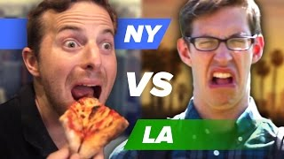 Is New York's pizza better than LA's New-York-style pizza is bad? It's The Try Guys Coast-to-coast Pizza Party Challenge Part 1 of ...