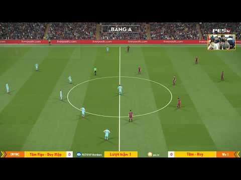 PES League 2v2 | [MYM] Tâm Figo + Duy Mập vs [WE1] Tâm Barca + Ken Nguyễn 23-12-2017