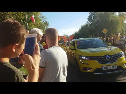 Tour de Polonge w Knurowie, kolumna reklamowa 06.08.2018r