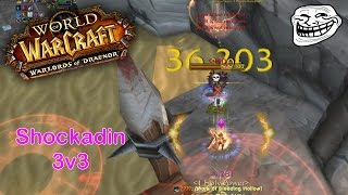 World of Warcraft: Warlords of Draenor Shockadin PvP: So I decided to play Shockadin in 3v3.. and it worked out pretty well! Playing a comp which I like to c...