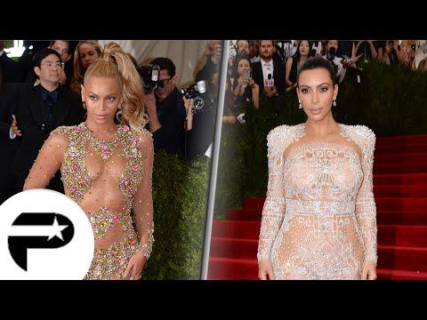 Beyonce et Kim Kardashian en robe dénudée au Met Gala 2015