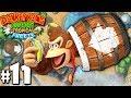 Donkey Kong Country Tropical Freeze Co-Op Barrel Blast PART 11 (Wii U HD Gameplay Walkthrough Coop)