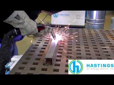 Fume-Extracting Welding Gun Video