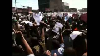 Demonstration Of Ethio. Muslims Demanding The Government To Respect Article