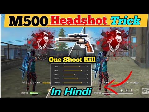 M500 One Tap Headshot Kill Trick For Every New Player In Garena Free Fire   Headshot   M500   Trick