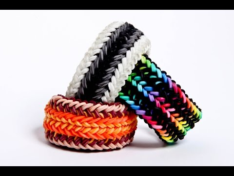 snake belly 1 loom – advanced rainbow loom bracelet – hardest design