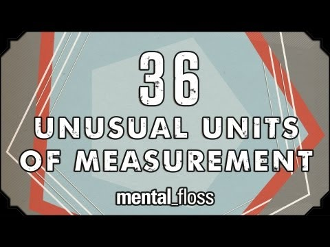 Unusual - A weekly show hosted by John Green, where knowledge junkies get their fix of trivia-tastic information. This week, John looks at unusual units of measurement...