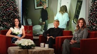 Ellen and Julia Roberts Scare Julia Louis-Dreyfus