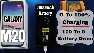 Samsung Galaxy M20 Battery Test | 0 to 100 & 100 to 0 battery drain test Live ✌✌