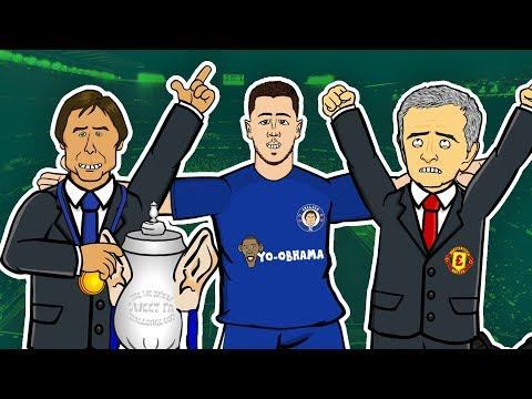 Funny face - FA Cup Final! Manchester United 0-1 Chelsea    GOGGLE IN THE BOX  442oons ft Hazard, Mourinho