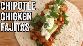 CHIPOTLE CHICKEN FAJITAS RECIPE by  My Virgin Kitchen