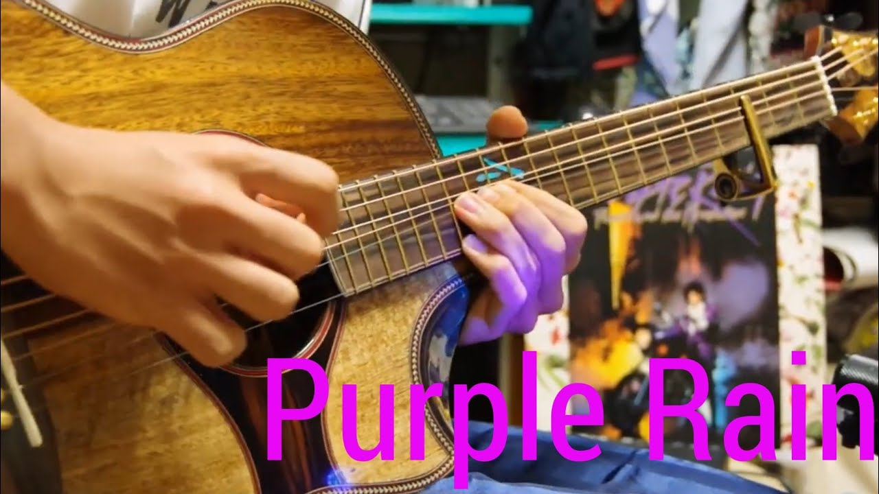 Purple Rain – Prince – Solo Acoustic Guitar – Arranged by Kent Nishimura