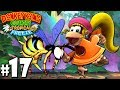Donkey Kong Country Tropical Freeze Co-Op Bee Barrel PART 17 (Wii U HD Gameplay Walkthrough Coop)