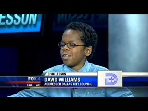 City Council - 02/27/2013 A young man goes to a Dallas City Council meeting to learn, but he was the one who schooled city leaders. David Williams, 11, found his voice Wedn...