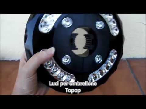 Luce per ombrellone tonda con 24 luci a LED Topop