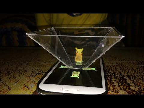Joakim and Johann's 3D Hologram using Smart Phone featuring Pikachu :)