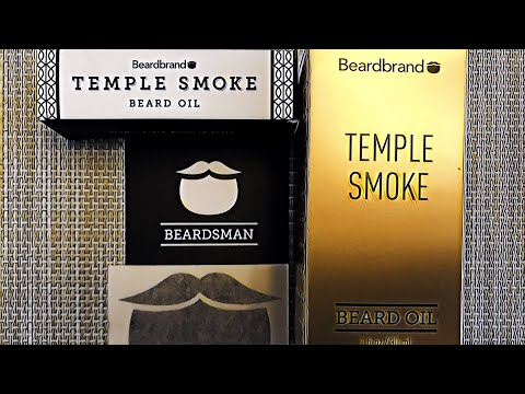 BeardBrand Unboxing  Temple Smoke Beard Oil  First Impressions