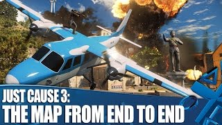Just Cause 3 - The map from end to end